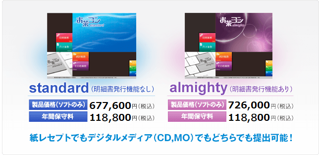 紙レセプトでもデジタルメディア(CD,MO)でもどちらでも提出可能!